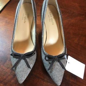 Kate Spade NWT, Brown tweed pumps size 6.5